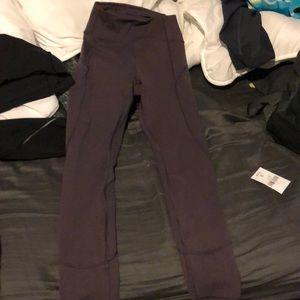 Lululemon leggings! maroon/purplish color!